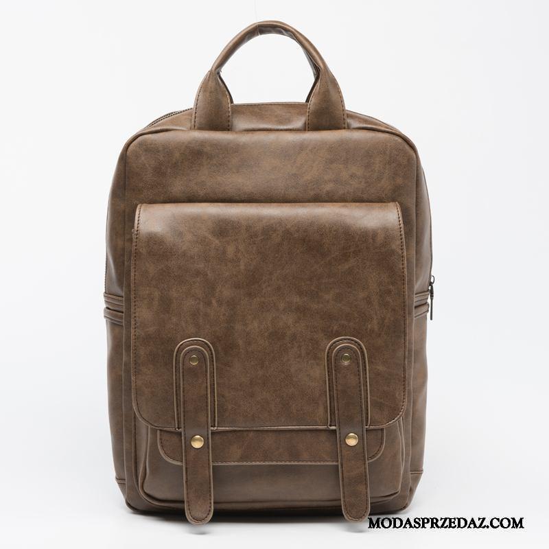Plecak Męskie Sprzedam Casual Podróż Moda Sportowe Tornister Szkolny Brązowy