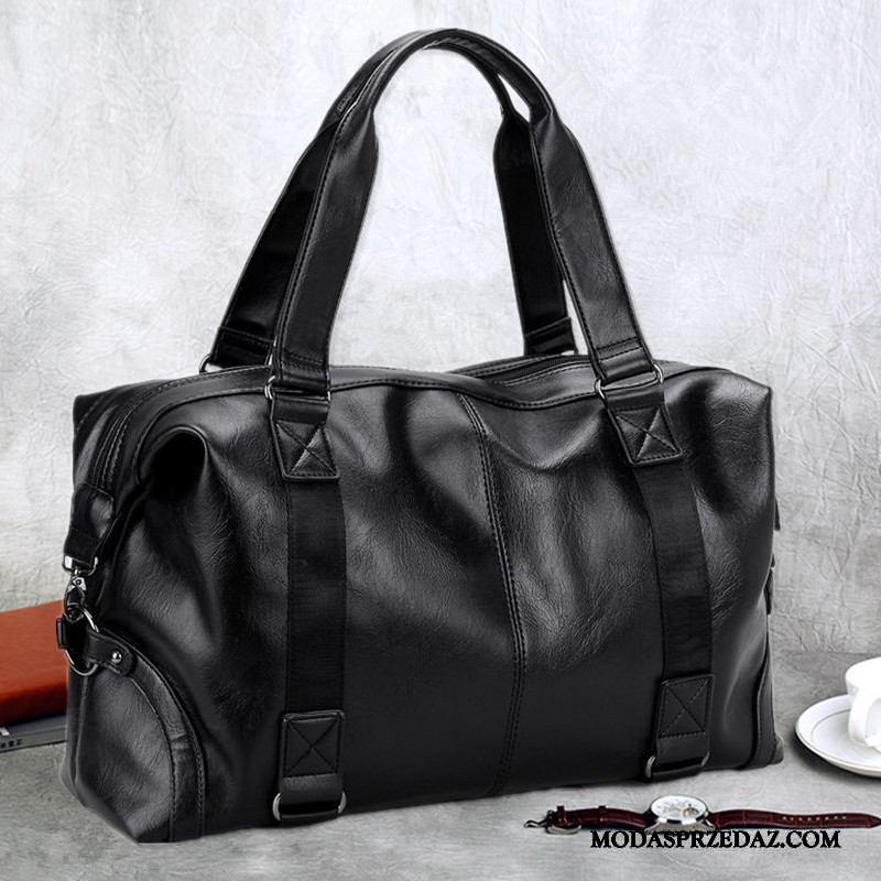 Plecak Podróżny Męskie Na Sprzedaż Biznes Podróż Służbowa Krótki Skóra Torba Podróżna Czarny