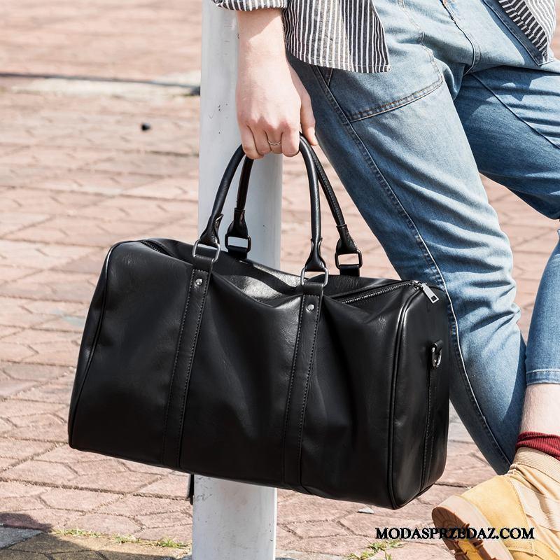Plecak Podróżny Męskie Sklep Męska Fitness Duża Pojemność Torba Podróżna Krótki Czarny