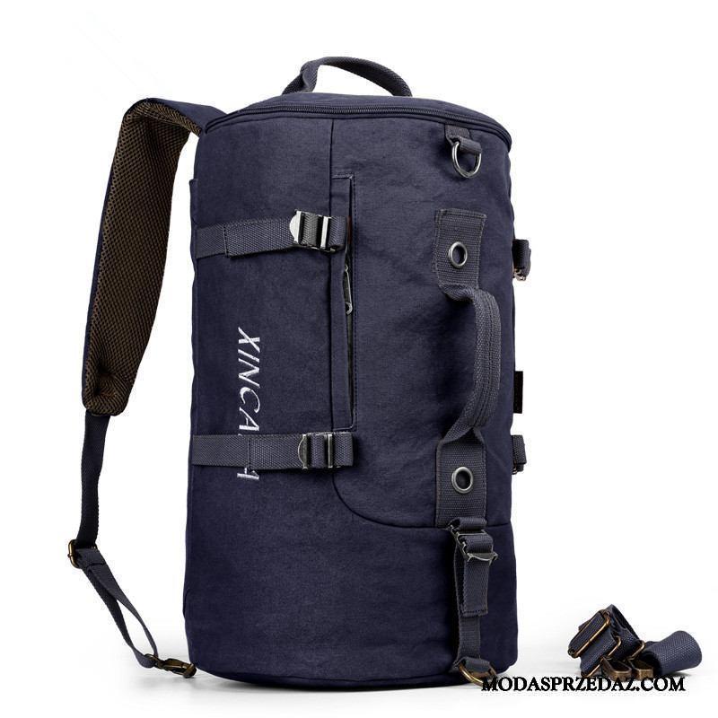 Plecak Podróżny Męskie Sklep Outdoor Duża Pojemność Sportowe Męska Casual Niebieski