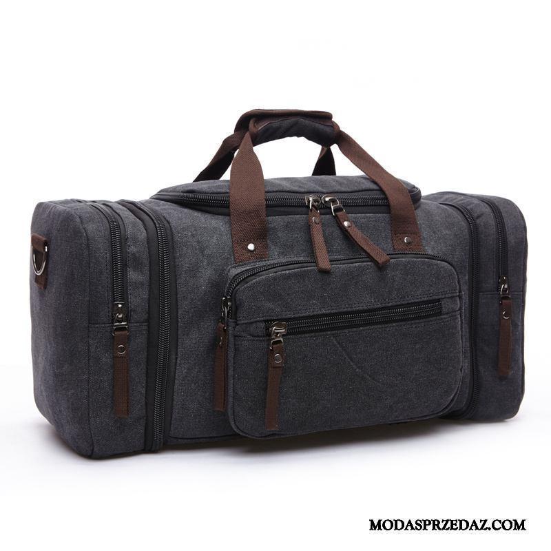 Plecak Podróżny Męskie Sklep Płótno Student Nowy Vintage Duże Torby Czarny