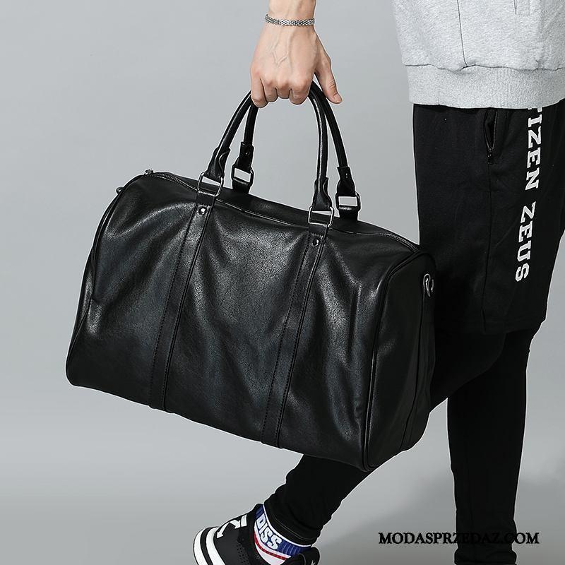 Plecak Podróżny Męskie Tanie Fitness Casual Duża Pojemność Krótki Męska Czarny