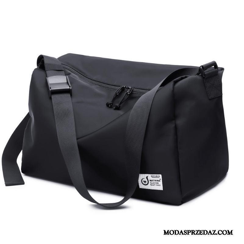 Plecak Podróżny Męskie Tanie Torba Na Ramię Sportowe Trendy Training Duża Pojemność Czarny