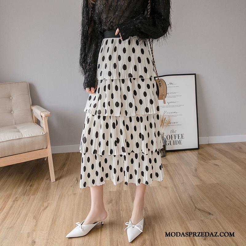 Spódnica Damskie Sprzedam 2019 Eleganckie Długie Nowy Wysoki Stan Biały Czerwony