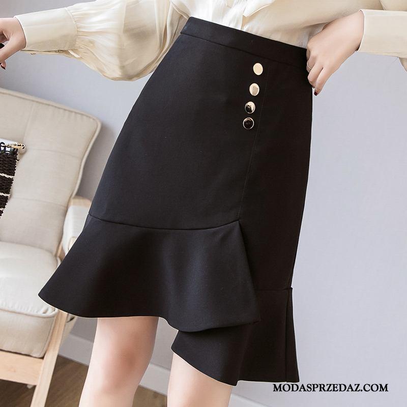 Spódnica Damskie Tanie Wiosna 2019 Eleganckie Moda Nowy Czarny