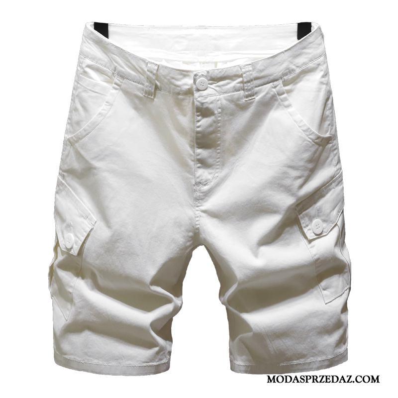 Spodenki Męskie Kup Szerokie Lato Męska Modna Marka Spodnie Biały
