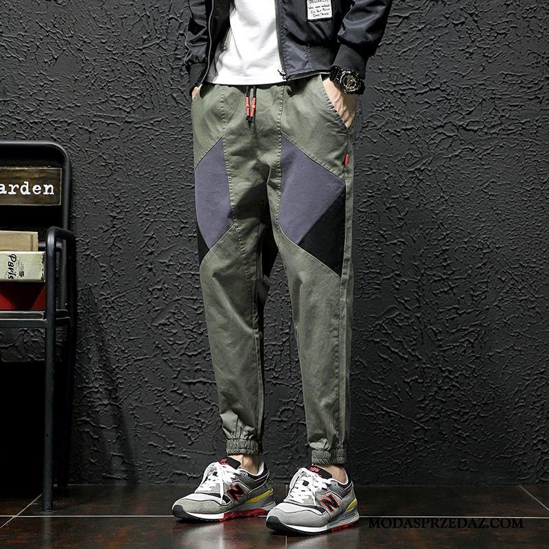 Spodnie Cargo Męskie Na Sprzedaż Tendencja Szerokie Męska Slim Fit Sportowe Zielony