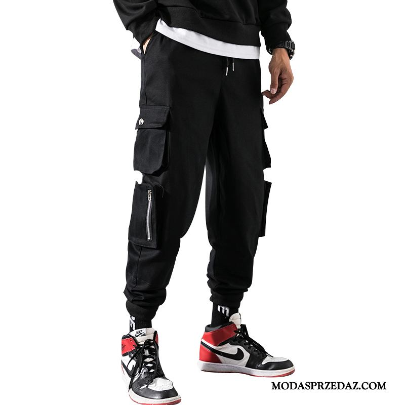 Spodnie Cargo Męskie Sklep Casualowe Spodnie Duży Rozmiar Hip-hop Długie Męska Czarny