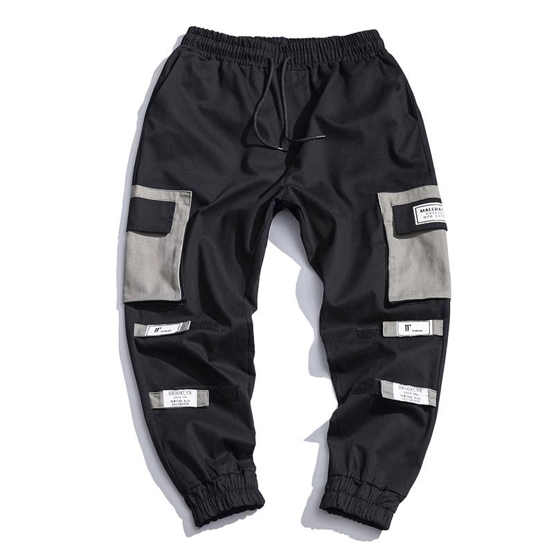 Spodnie Cargo Męskie Sklep Męska Casualowe Spodnie Więcej Kieszeni Wiosna Szerokie Mieszane Kolory Czarny
