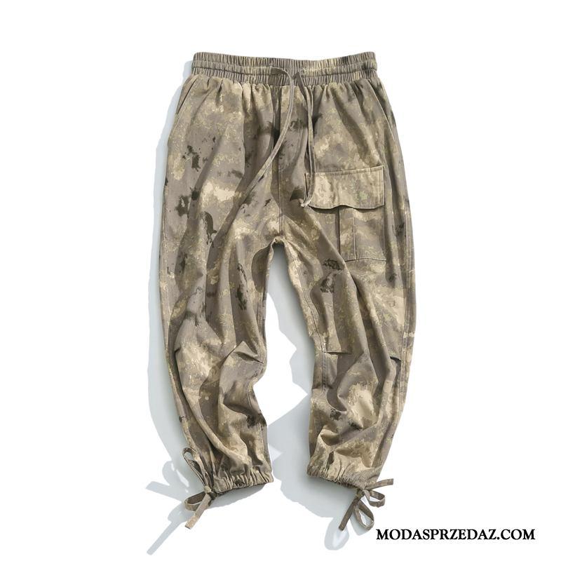 Spodnie Cargo Męskie Sklep Tendencja Jesień Szerokie Casualowe Spodnie Nastolatek Kamuflaż