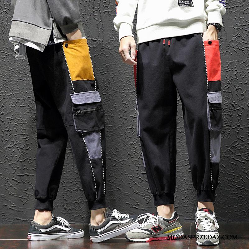 Spodnie Cargo Męskie Sprzedam Modna Marka Slim Fit 2019 Casualowe Spodnie Męska Czarny Czerwony