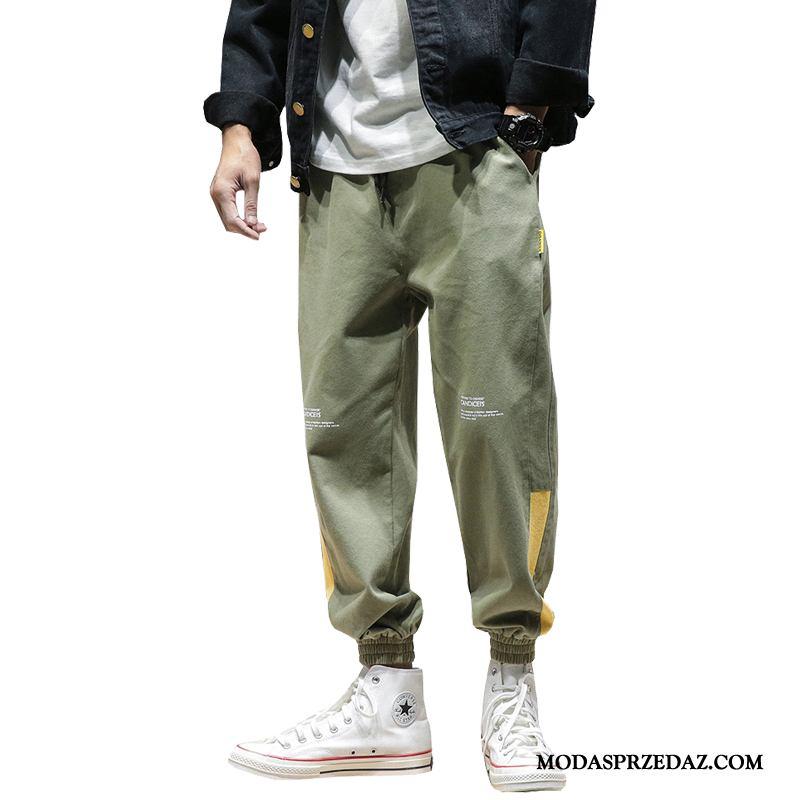 Spodnie Cargo Męskie Sprzedam Spodnie Dresowe Dla Otyłych Duży Rozmiar Męska Wiosna Zielony