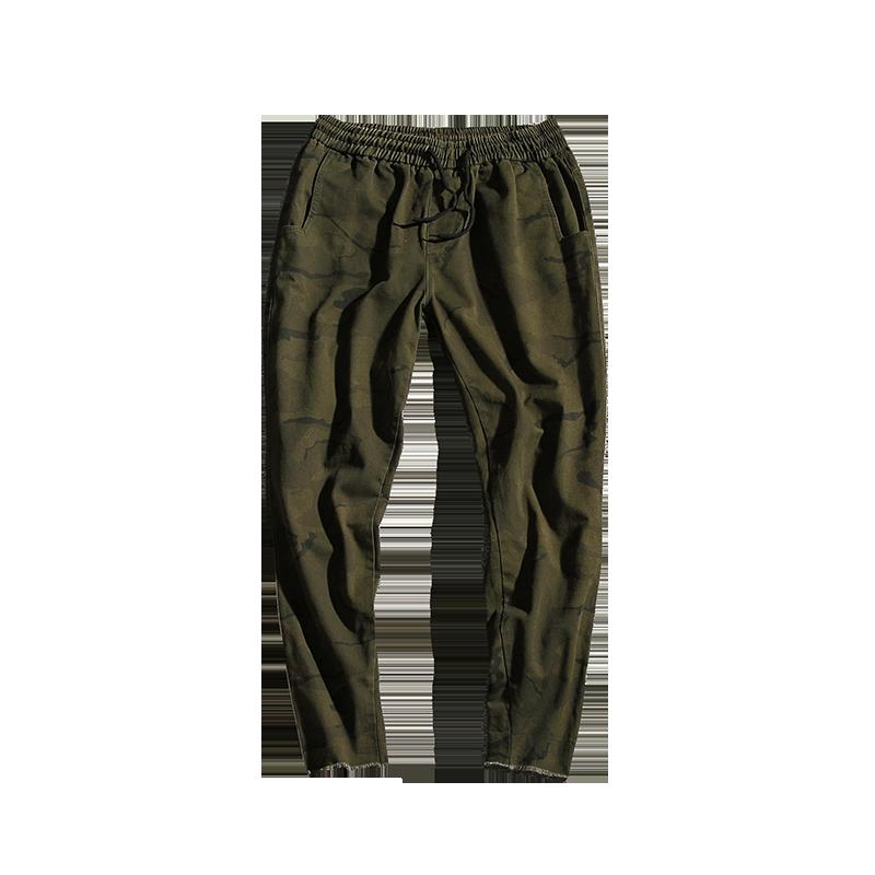 Spodnie Cargo Męskie Tanie Duży Rozmiar Casualowe Spodnie Wiosna Męska Tendencja Kamuflaż Ciemno