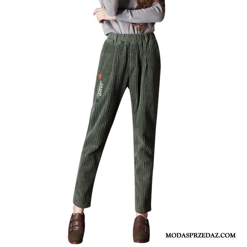 Spodnie Damskie Na Sprzedaż Harlan Wiosna Damska Cienkie Szerokie Zielony