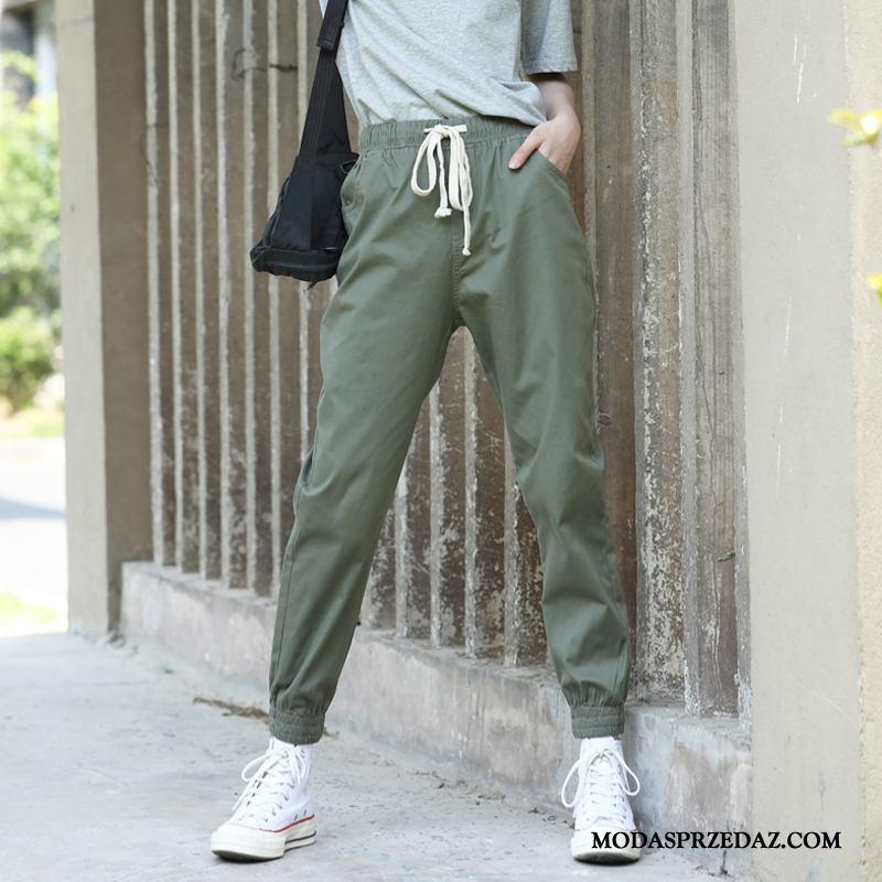 Spodnie Damskie Sklep Sportowe Damska Szerokie Slim Fit Casualowe Spodnie Zielony