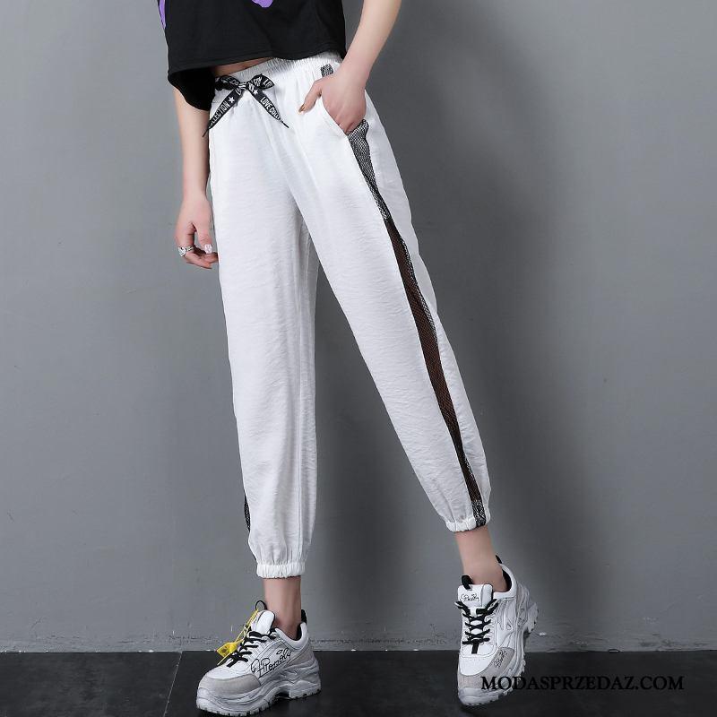 Spodnie Damskie Sprzedam Cienkie 2019 Koronka Wiosna Damska Biały