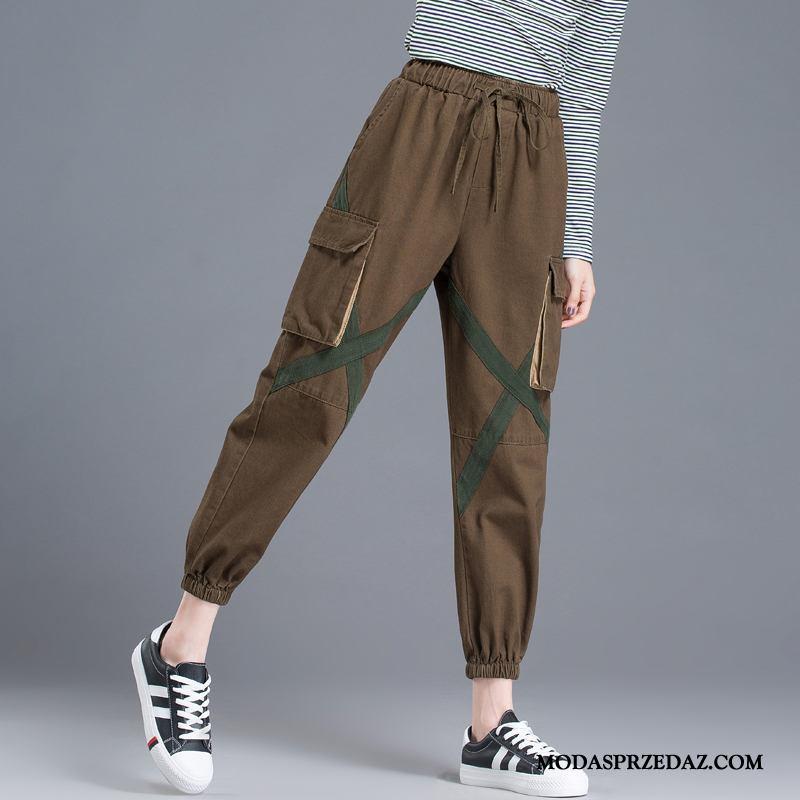 Spodnie Damskie Sprzedam Cienkie 2019 Tendencja Moda Nowy Brązowy