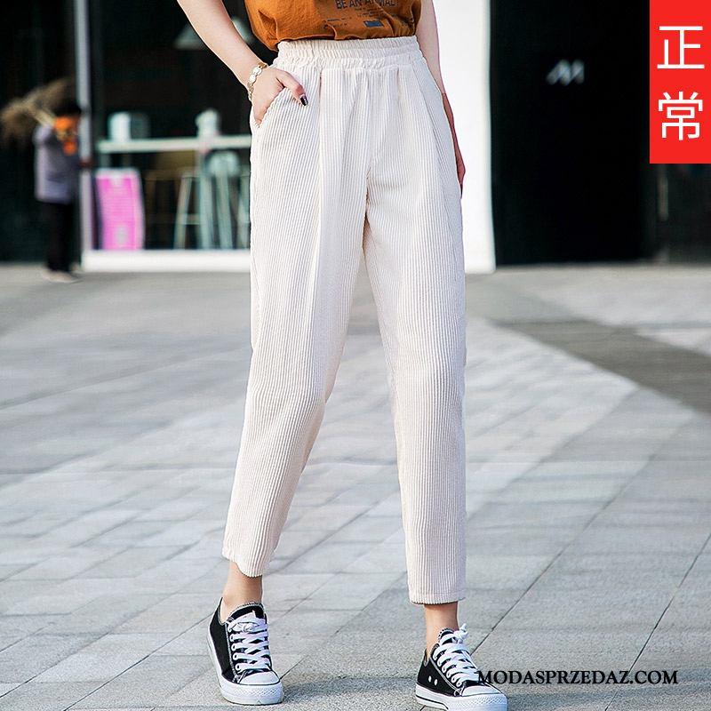 Spodnie Damskie Sprzedam Długie Proste Cienkie Super Casualowe Spodnie Jasny