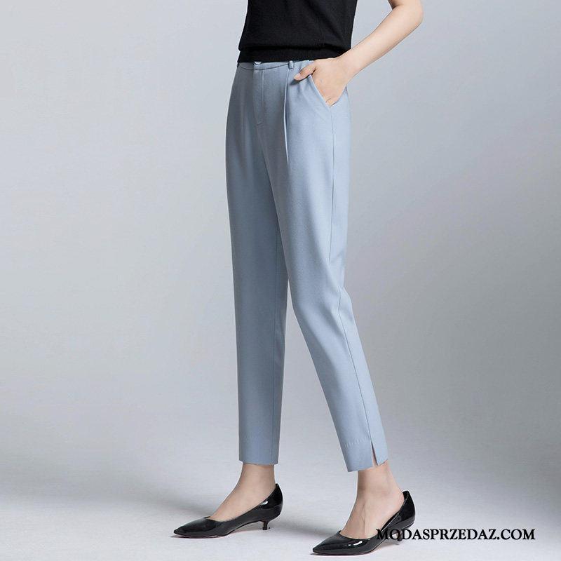 Spodnie Damskie Sprzedam Lato Harlan Garnitury Ołówkowe Spodnie Duży Rozmiar Niebieski