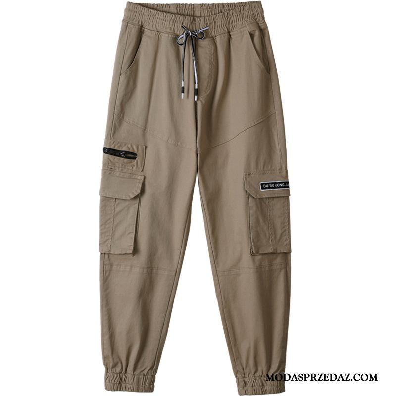 Spodnie Damskie Sprzedam Spodnie Cargo Slim Fit Wysoki Stan Damska Szerokie Khaki