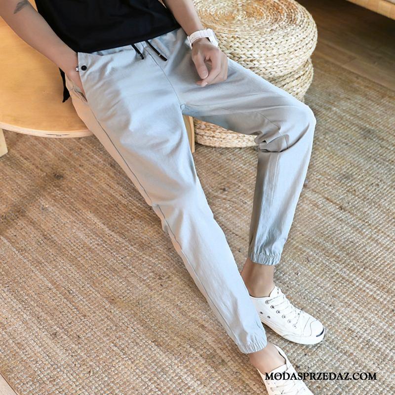 Spodnie Męskie Kup Ołówkowe Spodnie Tendencja Slim Fit Męska Jesień Szary