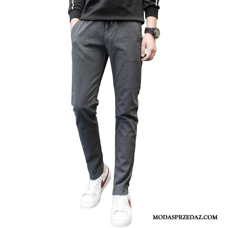 Spodnie Męskie Kupię Młodzież Slim Fit Elastyczne Ołówkowe Spodnie Męska Szary