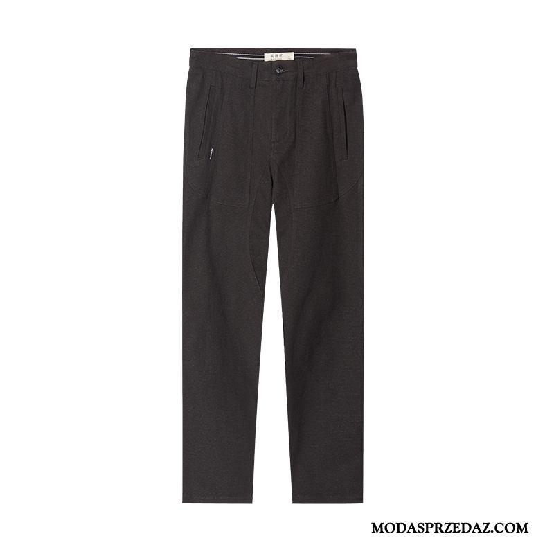 Spodnie Męskie Kupię Wiosna Tendencja Slim Fit Jesień Casualowe Spodnie Czarny
