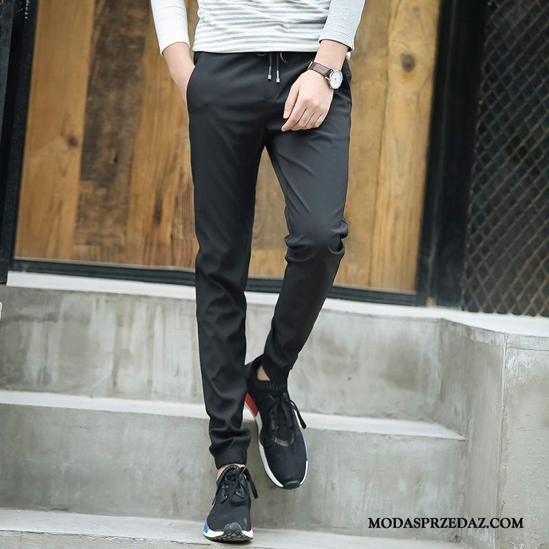 Spodnie Męskie Na Sprzedaż Casual Lato Spodnie Dresowe Slim Fit Harlan Czarny
