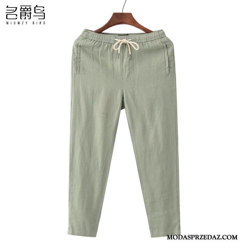 Spodnie Męskie Sprzedam Ołówkowe Spodnie Elastyczne Oddychające Nowy Wiosna Zielony
