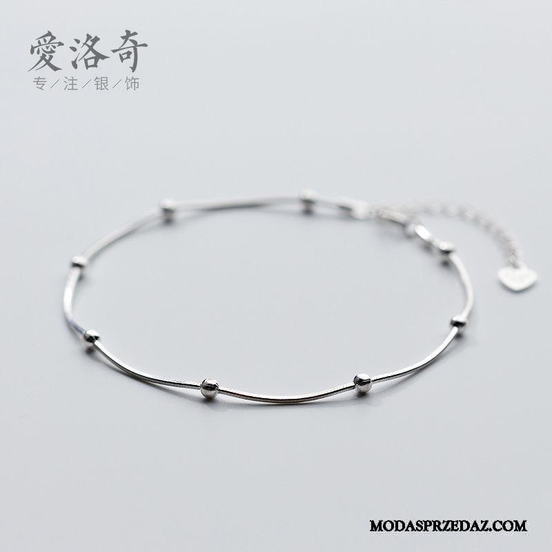 Srebrna Biżuteria Damskie Dyskont Prosty Damska Osobowość Akcesoria Mały Srebrny Biały