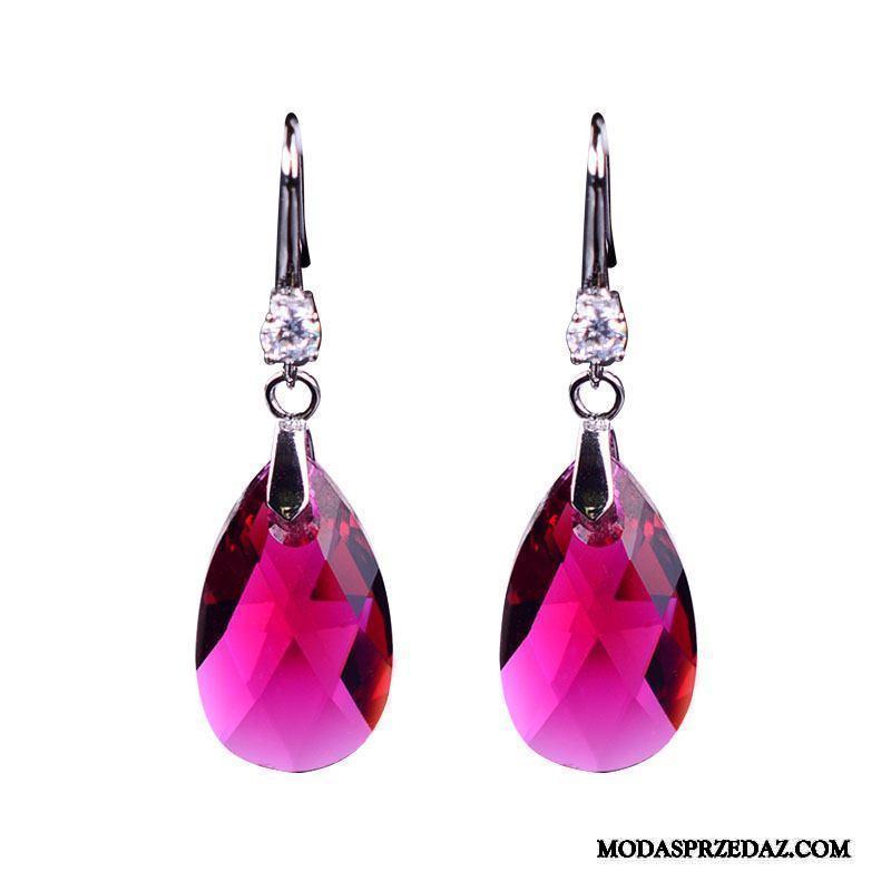 Srebrna Biżuteria Damskie Kup Akcesoria Pure Eleganckie Wszystko Pasuje Kryształ Srebrny Czerwony
