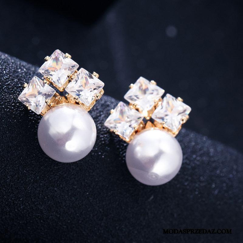 Srebrna Biżuteria Damskie Tanie Eleganckie Osobowość Długa Sekcja Nowy Trendy Srebrny Biały Czerwony