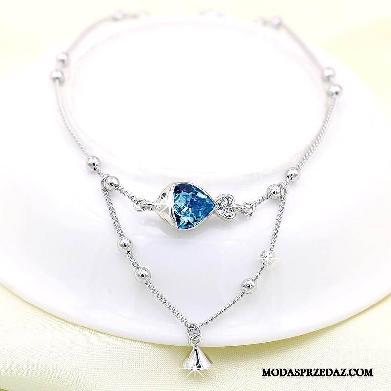 Srebrna Biżuteria Damskie Tanie Kryształ Figlarny Świeży Damska Pure Niebieski Srebrny