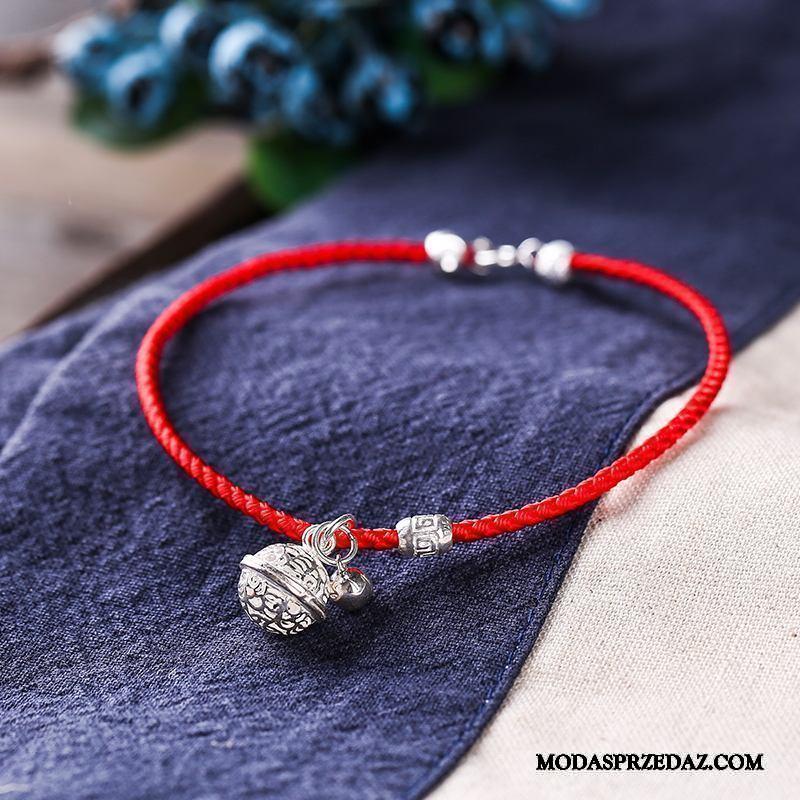 Srebrna Biżuteria Damskie Tanie Pure Mały Vintage Seksowna Prosty Srebrny Czarny Czerwony