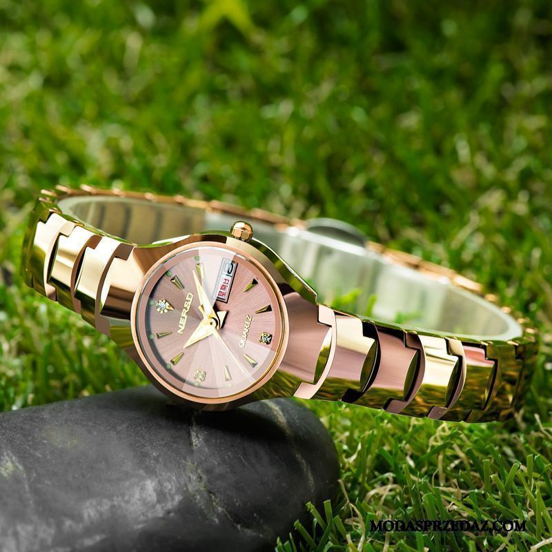Zegarek Na Rękę Damskie Kup Damska Trendy Bransoletki Moda Wodoodporny Złoty