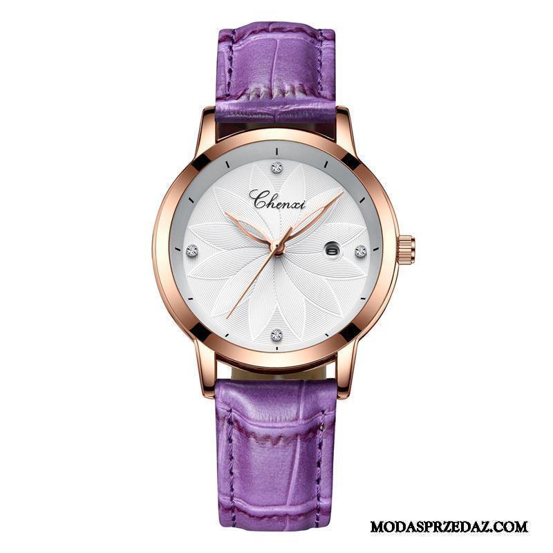 Zegarek Na Rękę Damskie Kup Mały Damska Trendy Siatkowe Moda Fioletowy