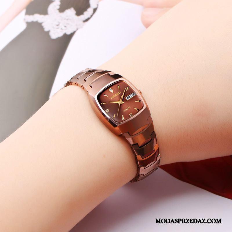 Zegarek Na Rękę Damskie Kup Moda Zegarek Kwarcowy Wodoodporny Damska Trendy Róża Złoty