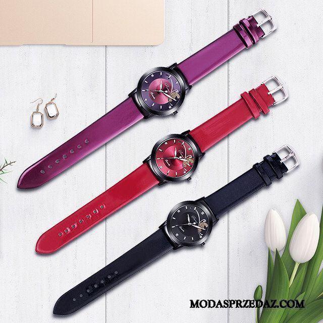 Zegarek Na Rękę Damskie Kupię Oryginalne Student Wodoodporny Świecące Damska Fioletowy Czerwony