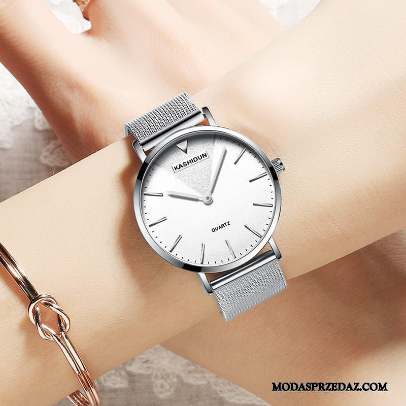 Zegarek Na Rękę Damskie Kupię Wodoodporny Moda Oryginalne Damska Student Biały