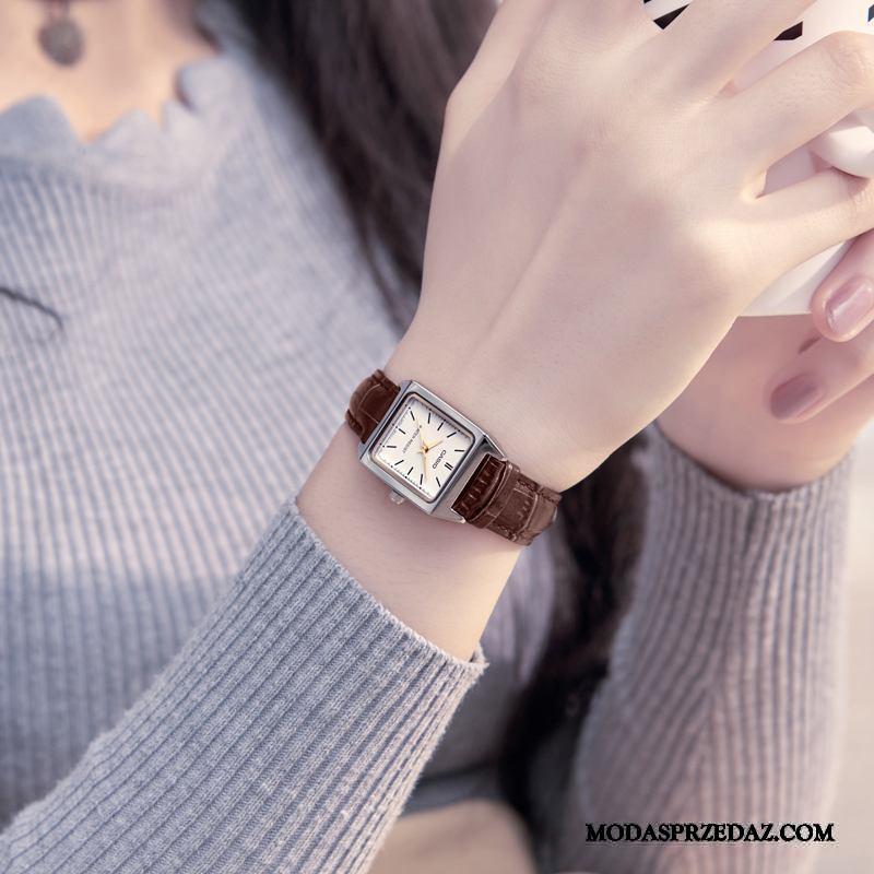 Zegarek Na Rękę Damskie Oferta Mały Moda Siatkowe Paski Oryginalne Brązowy Czerwony