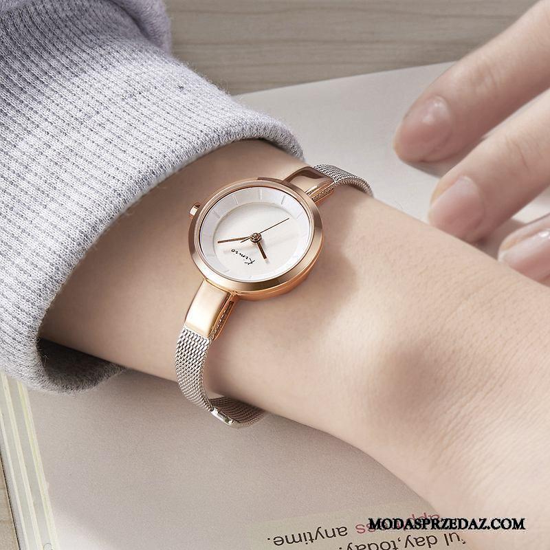 Zegarek Na Rękę Damskie Online Trendy Dziewczynka Serce Prosty Mały Złoty