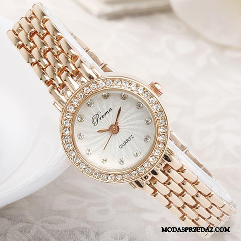 Zegarek Na Rękę Damskie Sklep Damska Trendy Dziewczynka Casual Bransoletki Złoty