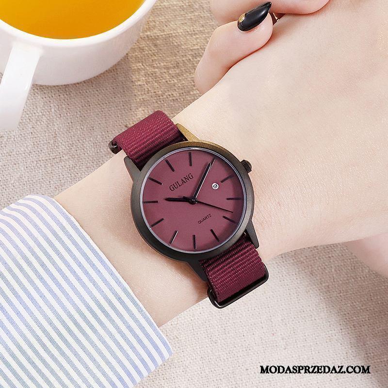Zegarek Na Rękę Damskie Sprzedam Vintage Zakochani Dziewczynka Świeży Prosty Niebieski