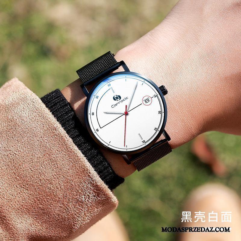 Zegarek Na Rękę Męskie Dyskont Student Trendy Wodoodporny Męska Nowy Biały