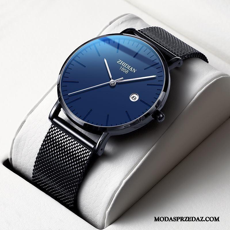 Zegarek Na Rękę Męskie Kupię Siatkowe Cienkie Nowy Wodoodporny Męska Niebieski Czarny Czerwony