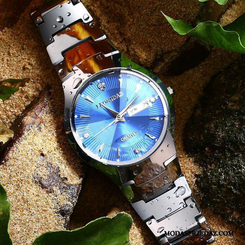 Zegarek Na Rękę Męskie Na Sprzedaż Oryginalne Nowy Siatkowe Casual Trendy Niebieski Czerwony