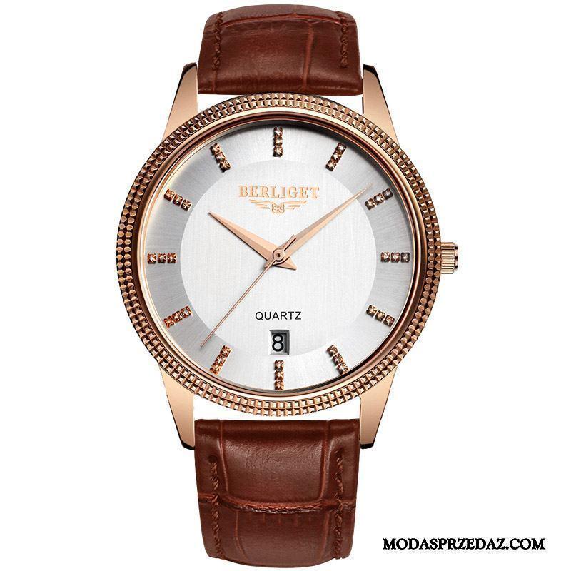 Zegarek Na Rękę Męskie Oferta Męska Casual Oryginalne Wodoodporny Nowy Róża Złoty Biały Brązowy