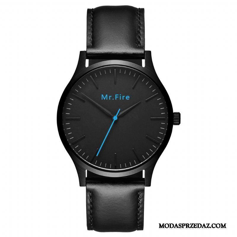 Zegarek Na Rękę Męskie Online Kalendarz Zegarek Kwarcowy Paski Prosty Siatkowe Niebieski Czerwony