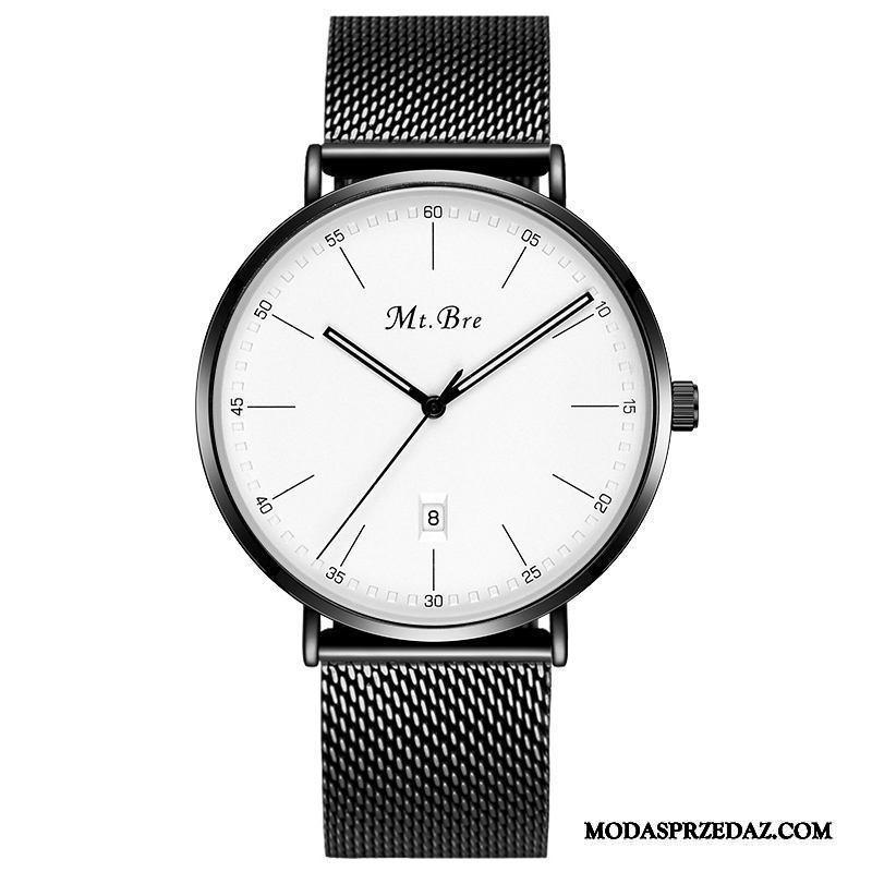 Zegarek Na Rękę Męskie Sklep 2019 Wodoodporny Trendy Moda Męska Biały Czerwony