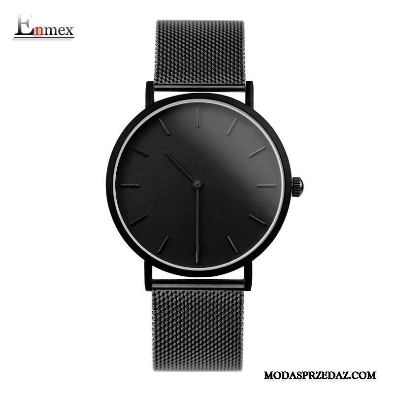 Zegarek Na Rękę Męskie Sprzedam Prosty Kalendarz Boże Narodzenie Prezent Lekkie Jasny Czarny